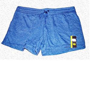 Athletic Works Knit Drawstring Shorts  - Blue F12